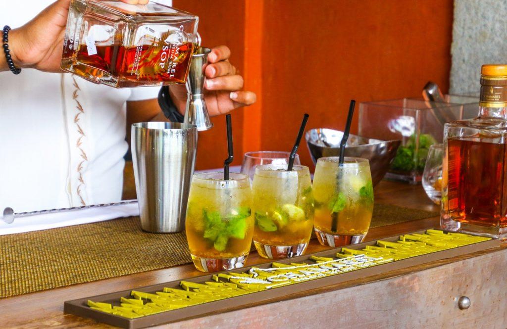 bartender making cocktail